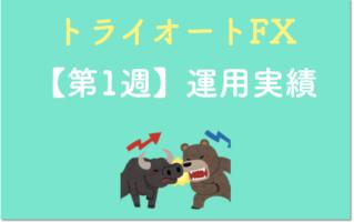 トライオートFXの運用実績の表紙